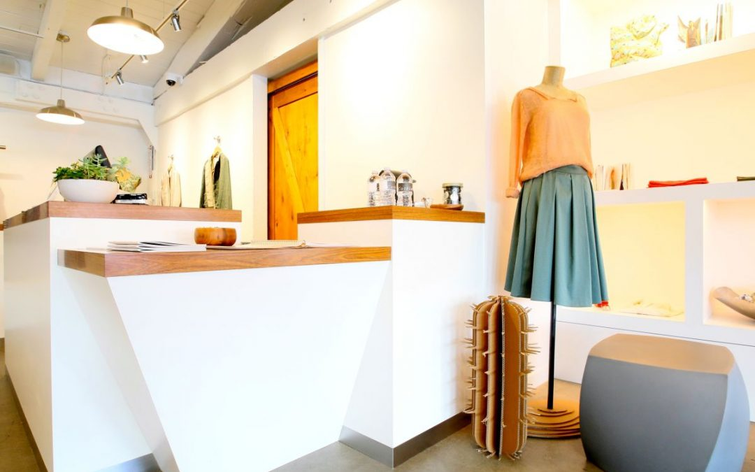 Retail displays at Cotelac, Palo Alto